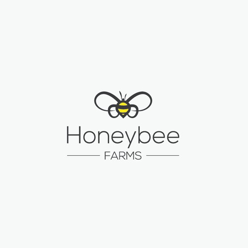 Simple Logo for Honeybee Company