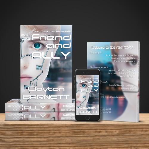 Sci-fi book cover concept