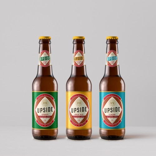 Label design for a non-alcoholic beer