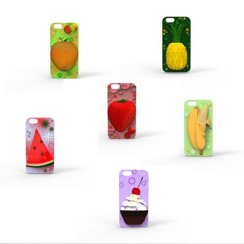 Fruit/Cupcake iPhone bumper, 3D Model