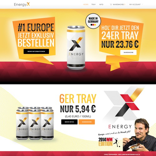 Energy Drink Stylish Trendy Website