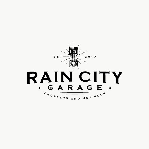 Vintage inspired logo for RAIN CITY
