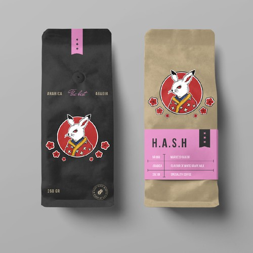 Logo concept for coffee packaging