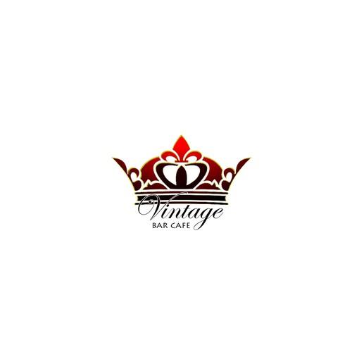 Vintage Café Bar logo design