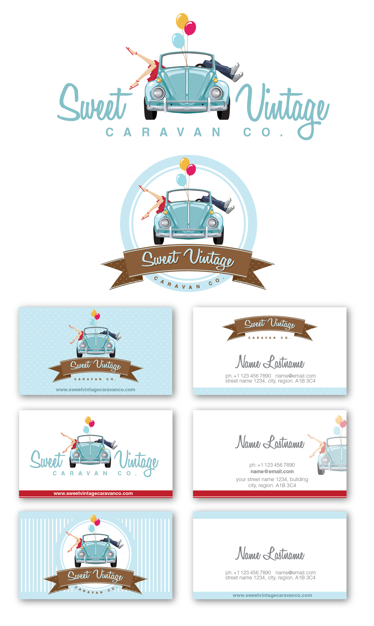 Sweet Vintage Caravan Co. needs a new logo and business card