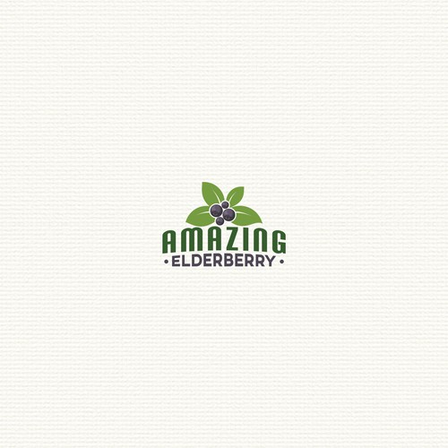 Clean logo for amazing elderberry