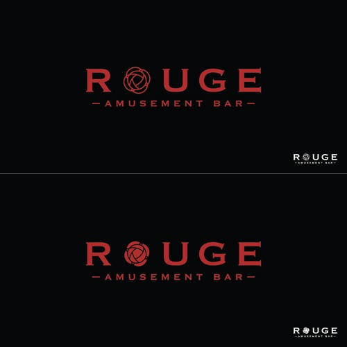 Rouge amusement bar Logo design
