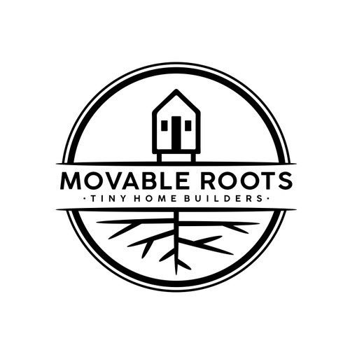Logo Design for Movable Roots - Tiny Home Builders