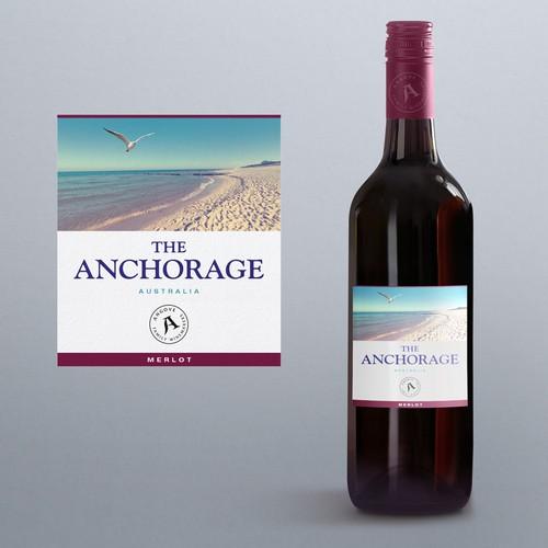 Australian wine label design.