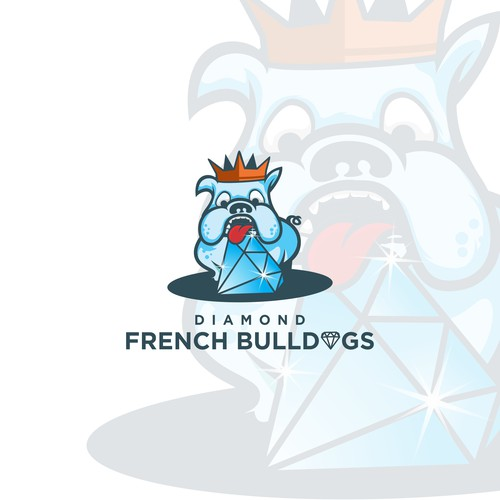 bulldogs diamond illustration logo