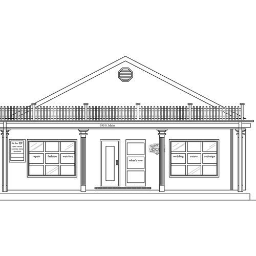 high quality building outline