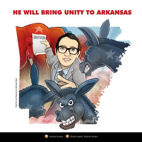 竞选政治卡通