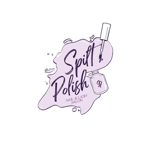 logo for nail and lash salon
