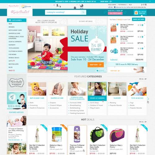 Create a modern new age premium design for AgapeBabies.com