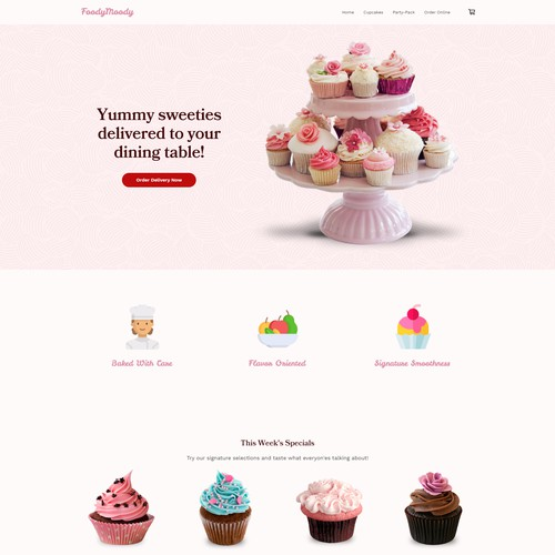 Online Store Website Design for Food Delivery Service.