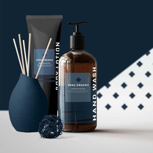 Masculine product & label design