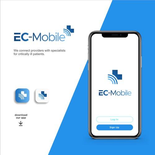 Creative logo design for EC-Mobile