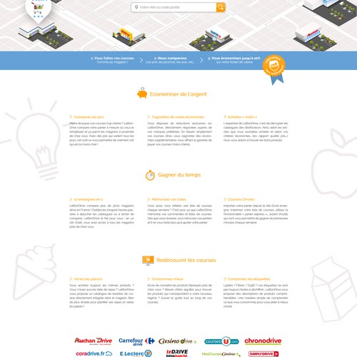 Design a website landing page