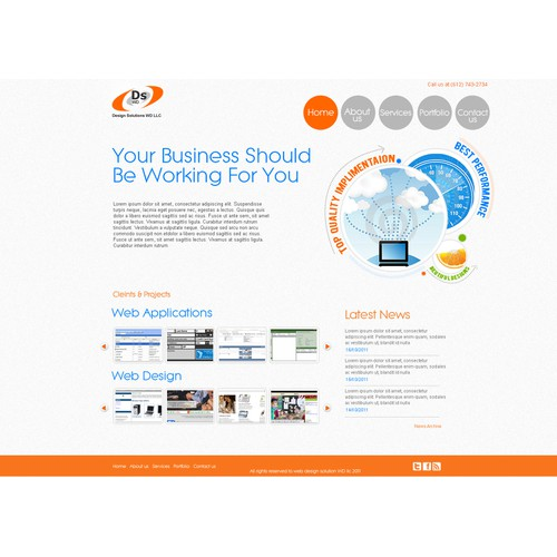 2 Page Web Site Design for Web Applications Developer Needed