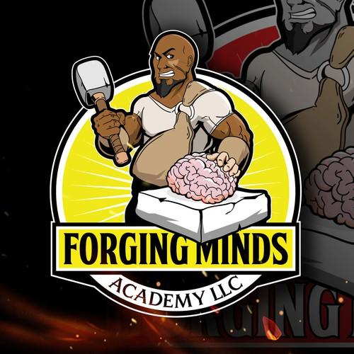black bald man character illustration design