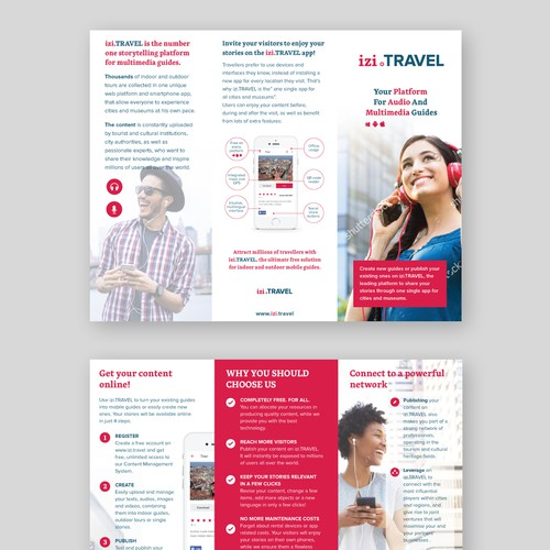 Tri-fold brochure for mobile application