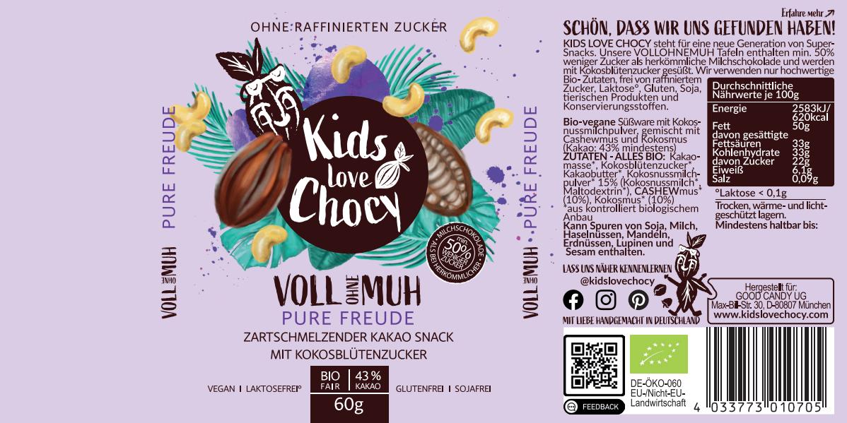 Verpackungsgestaltung Banderolen für Kinderschokolade