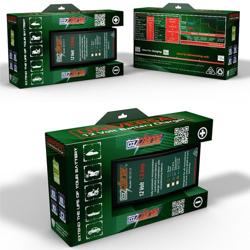 Creative and Appealing Battery Charger packaging design wanted.