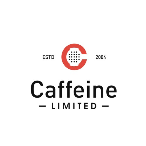 Create a funky, trendy espresso logo for Caffeine Limited