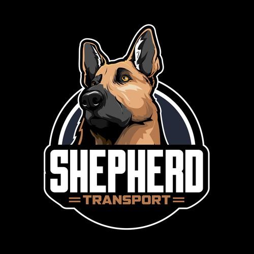German Shappered Dog illustration design