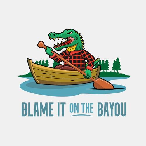 Alligator on the boat!