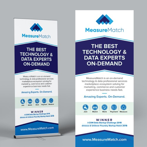 Flexible Workforce Startup Needs Compelling, Clear Creative for Roll-Up Banner