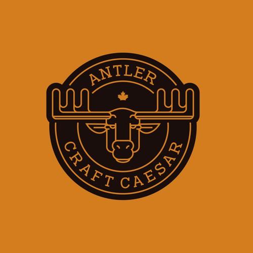Antler Craft Caesar brew Line Art style