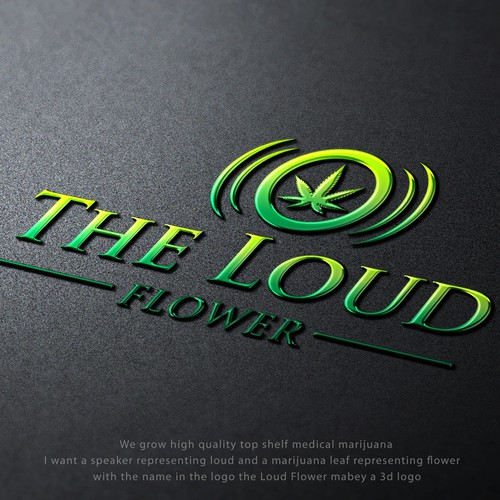 Winning Entry for logo Contest The Loud Flower