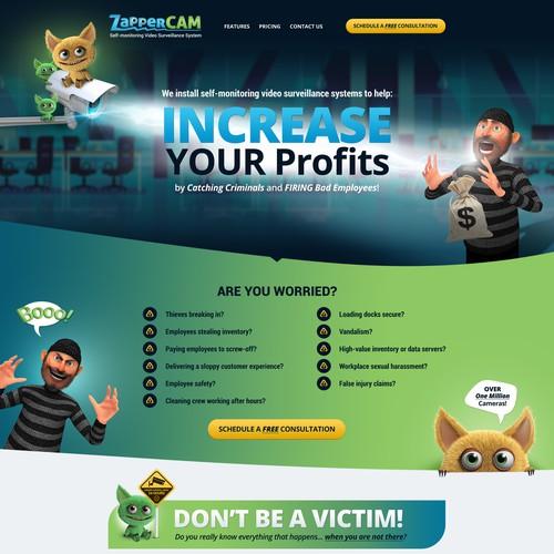 ZapperCAM web page