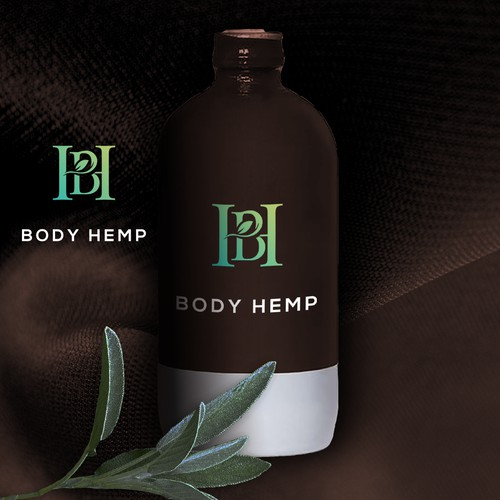Logo for hemp infused body care products to men and women