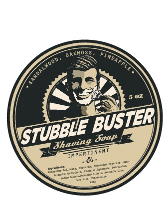 Classic Retro Shaving soap label