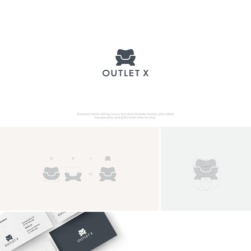 Clean, powerful logo for a Luxury lifetsyle outlet selling furniture, homeware & gifts