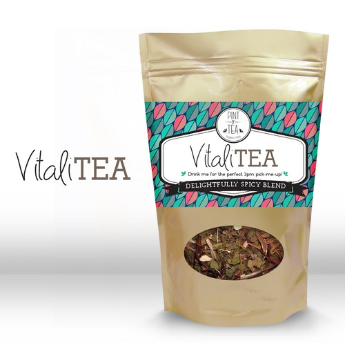 label package for organic herbal blend - vitaliTEA