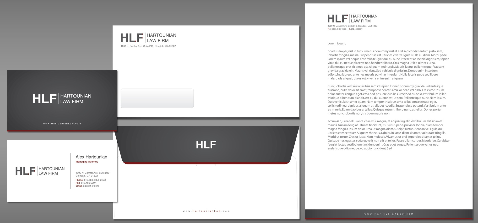 Hartounian Law Firm needs a new stationery