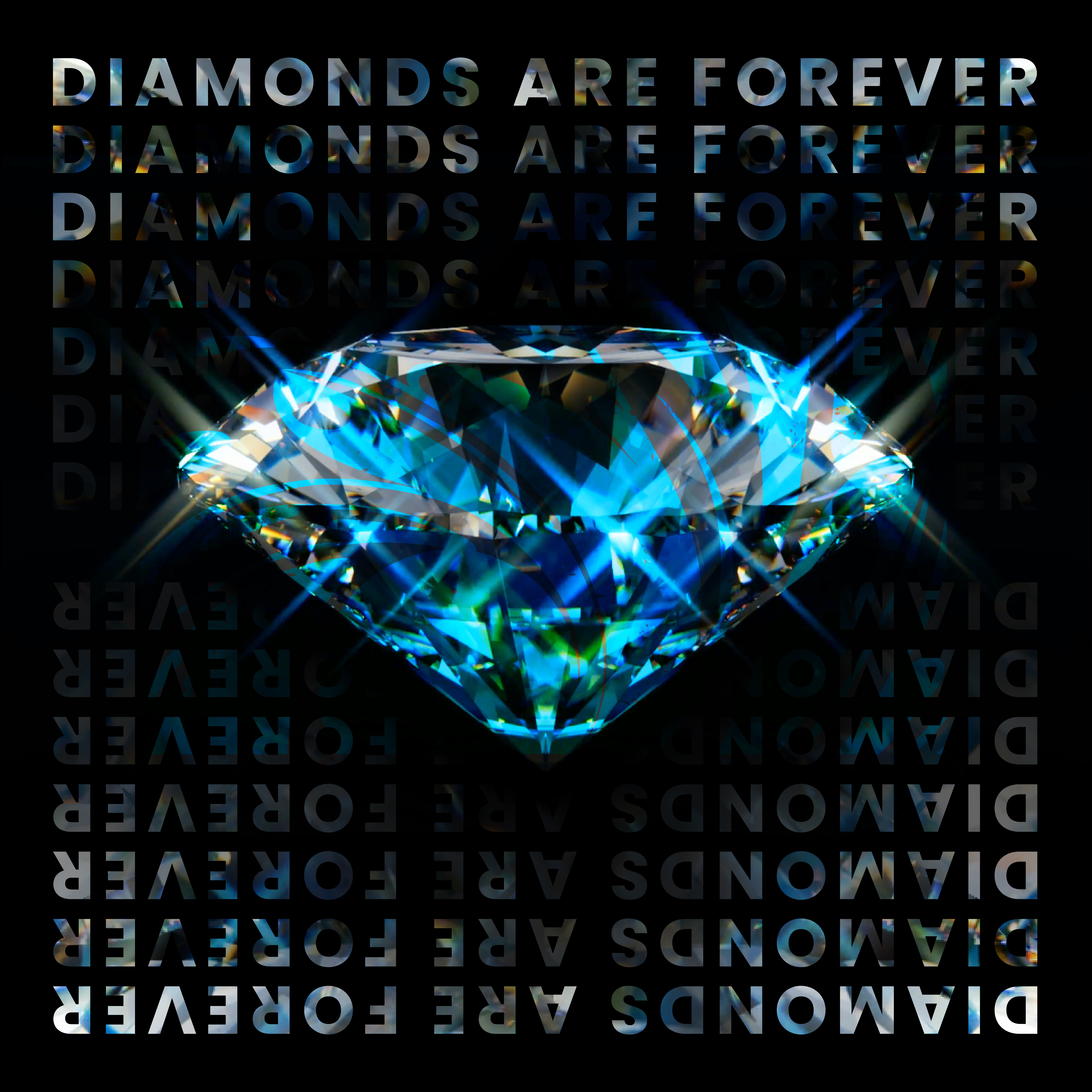 Create cover and canvas for DIAMONDS ARE FOREVER