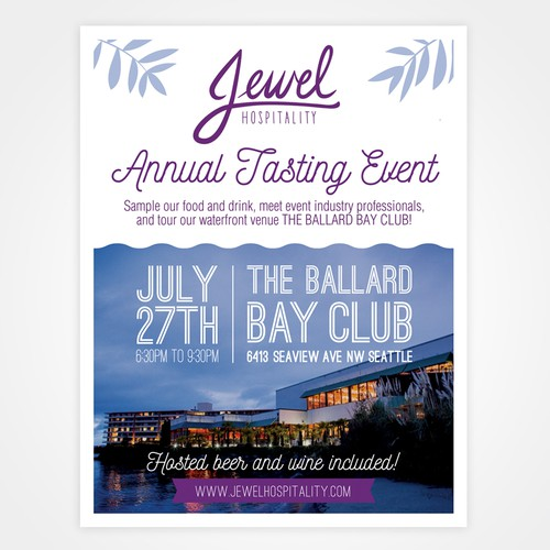Flyer for the tasting event