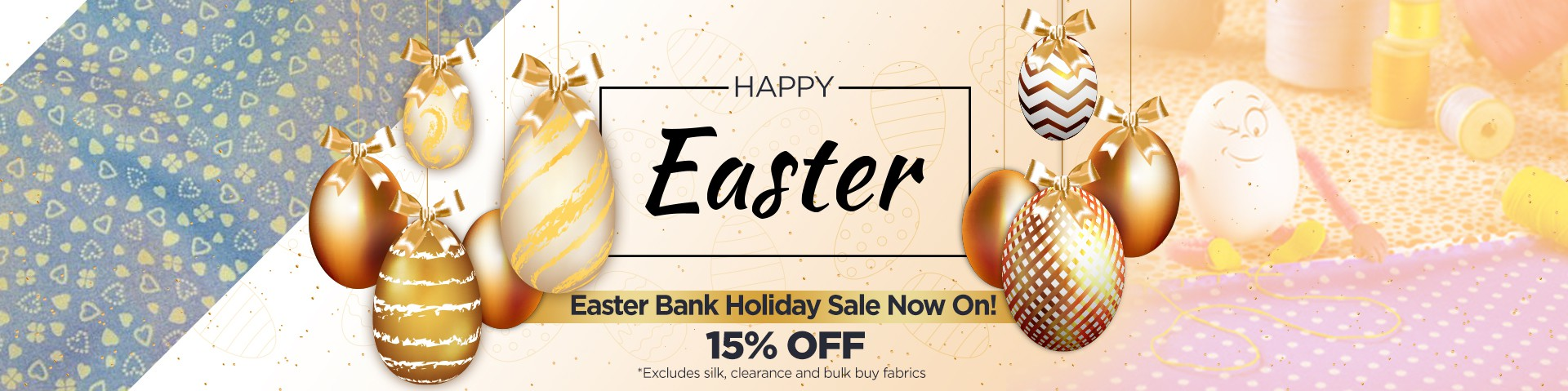 easter banner for a sale promotion
