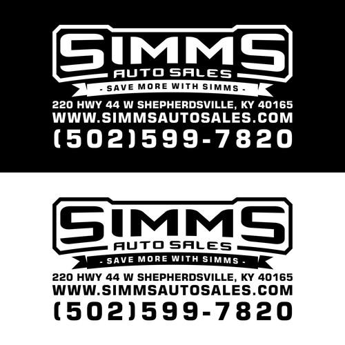 SIMMS auto sales Logo