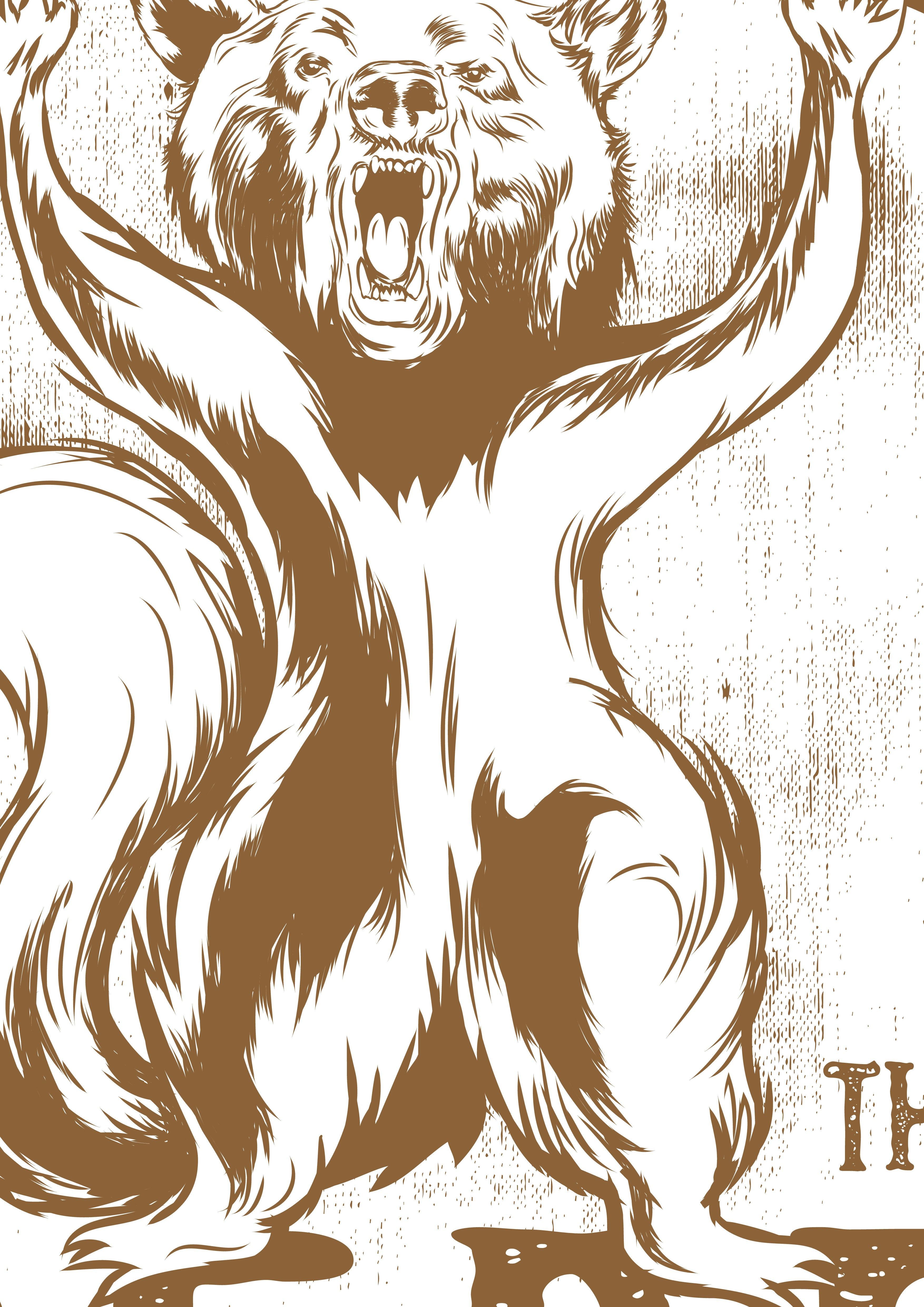 Create  a Bear Squirrel t-shirt for a summer camp