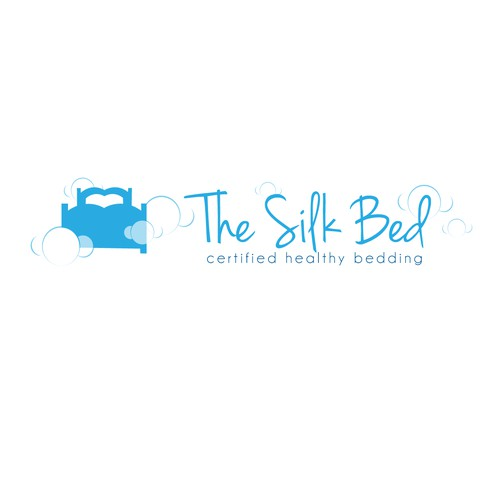 Create a clean, healthy logo for The Silk Bed illustrating health and wellness