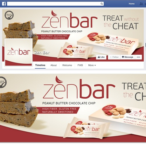 Create an inviting Facebook page for ZenBar protien bar