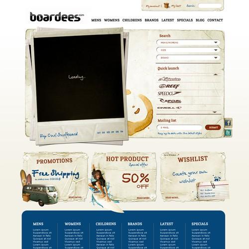 online SURF STORE - Super slick web design needed (PSD's)