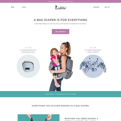 Diaper bag ecommerce