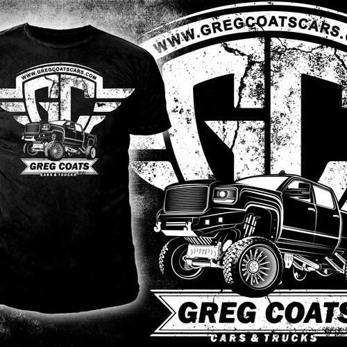 Cars & Trucks company t-shirt Design