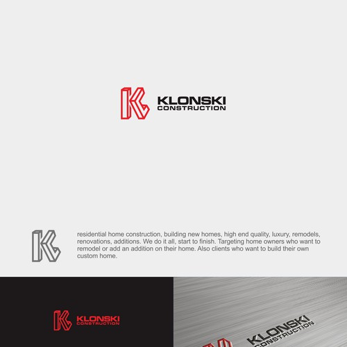 Bold Logo For Klonski Construction